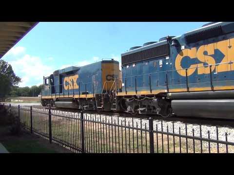 CSX Train Westbound At The Cedartown, GA Depot, 9-3-2018