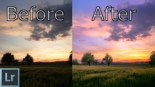 Lightroom 6 cc Tutorial - Create AMAZING Sunsets In Depth Explained - Landscape Photography Editing