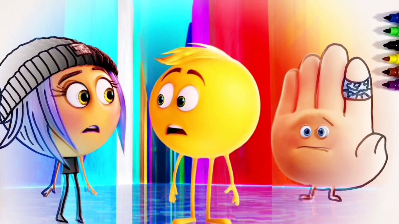 Hi 5 coloring pages - The Emoji Movie Jailbreak Gene And Hi 5 Coloring Pages For Children With Color Kids Tv
