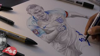 How to draw Wayne Rooney ⚽️ England EUROS 2016!