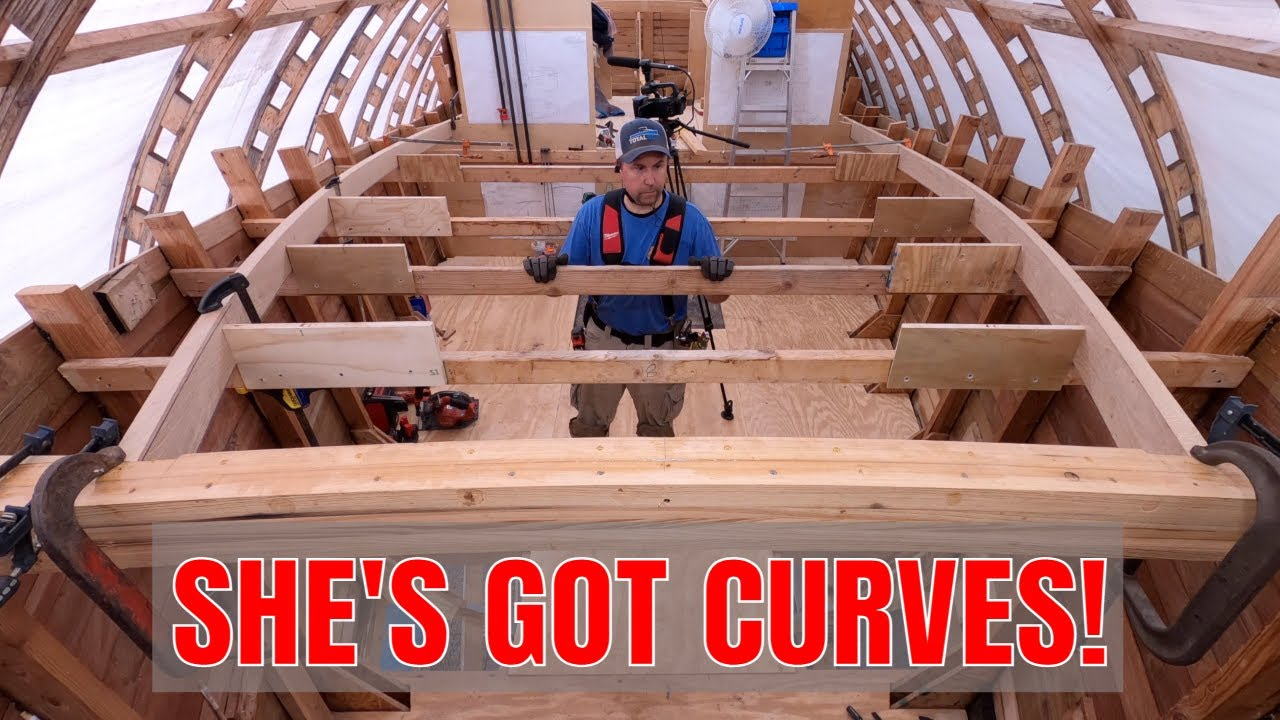 41 foot wooden yacht forward house framing. Sea Dreamer Project Ep. 68, Part 1
