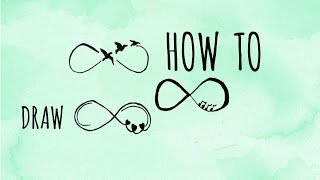 3 Ways To Draw INFINITY - Tattoo Style