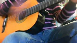 spezzoni cartoni - occhi di gatto - cover chitarra