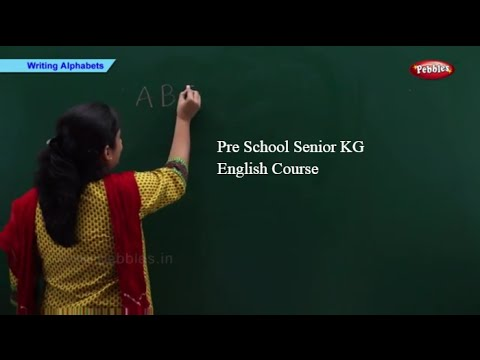 Pre School Senior KG English School Syllabus | Pre School Kindergarten | English Basics For Kids