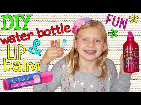 DIY Lip Balm & Cute Water Bottle