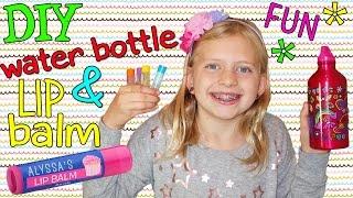 diy lip balm cute water bottle