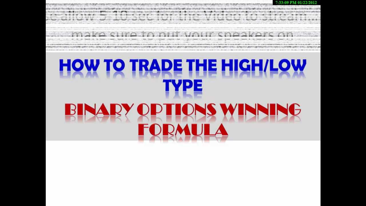 high low binary options youtube