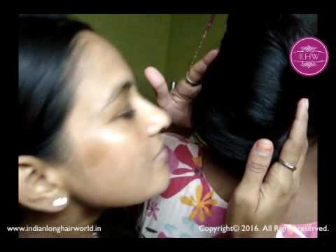 ASMR Hair Smelling | How to Smell Hair Bun & Long Hair Properly | Easy Layered Hair Bun Hairstyle