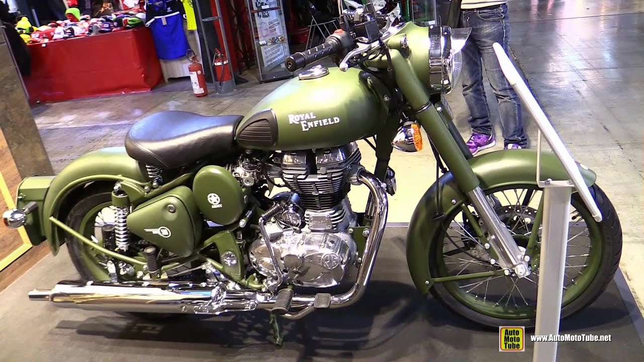 2017 Royal Enfield Clic 500 Battle Green Walkaround Eicma Milan Motorcycle Exhibition
