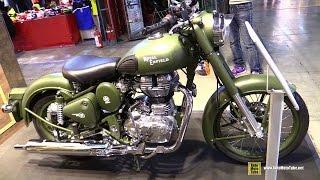 2015 Royal Enfield Classic 500 Battle Green - Walkaround - 2014 EICMA Milan Motorcycle Exhibition