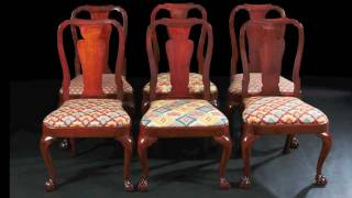 Rare Set Of Six American Dining Chairs