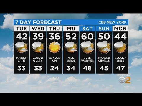 New York Weather: CBS2 1/6 Evening Forecast At 5PM