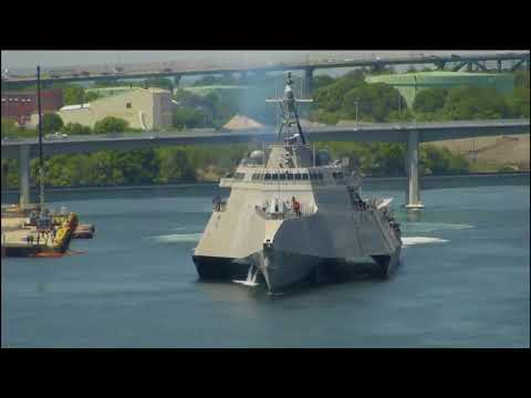 Raw video: USS Manchester leaves Portsmouth to head to home port