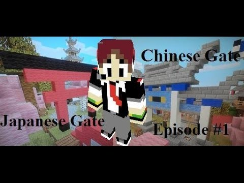 minecraft asian tutorials 1 how to make a chinese japanese gate youtube