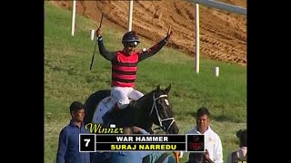 War Hammer with Suraj Narredu up wins The Bangalore Derby Gr 1 2020