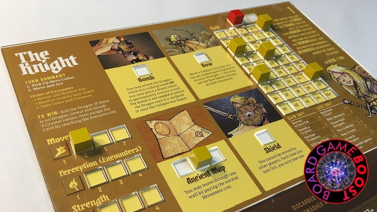 Vast: The Crystal Caverns Player Board Overlays
