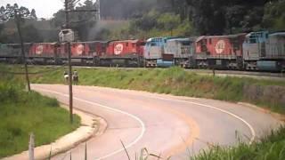 ALL Trem com 7 Locomotivas - 3 # AC44i e 4 # C30-7 (Canguera-zke)