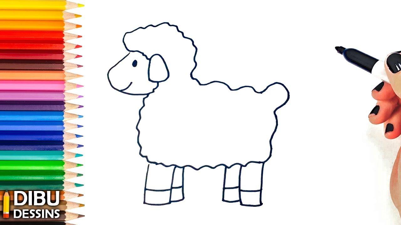 Comment Dessiner Une Mouton Dessin De Mouton Youtube