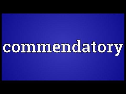 Header of commendatory