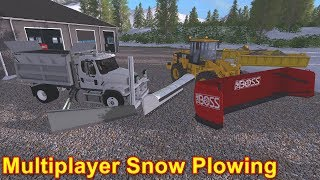 Farming Simulator 17 #10 Multiplayer Snow Plowing