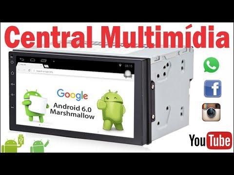 (DVD) Central Multimidia com Android igual ao um tablet no seu carro. modelo 2 din universal