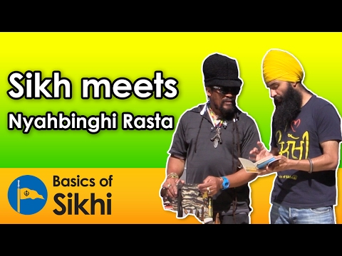 Sikh meets Nyahbinghi Rasta - Montreal Street Parchar