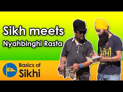 Sikh meets Nyahbinghi Rasta - Montreal Street Parchar