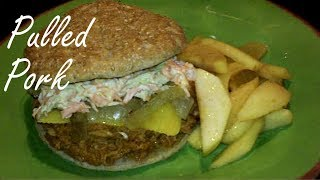 Crock Pot Bar-b-q Pulled Pork - Tender, Slow Cooked Pork With Tangy Bbq Sauce - Bbq Pork Sandwich