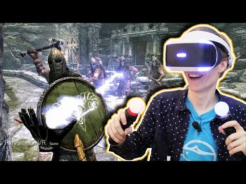 SKYRIM IN VIRTUAL REALITY! | Skyrim VR: Elder Scrolls V (PSVR Gameplay Review)