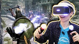 SKYRIM IN VIRTUAL REALITY Skyrim VR Elder Scrolls V PSVR Gameplay Review