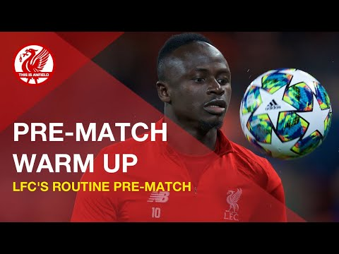 Liverpool FC pre-match warm-up routine