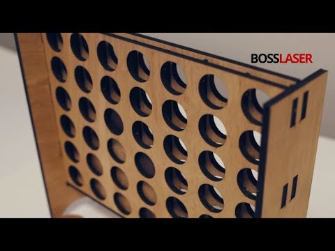 CO2 Laser Cut Wooden Connect Four (4) Game - Free File Download