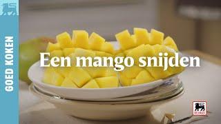 Een mango snijden