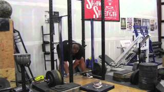 Shaw and Petursson WSM 2011 Reverse Band Deadlift Training