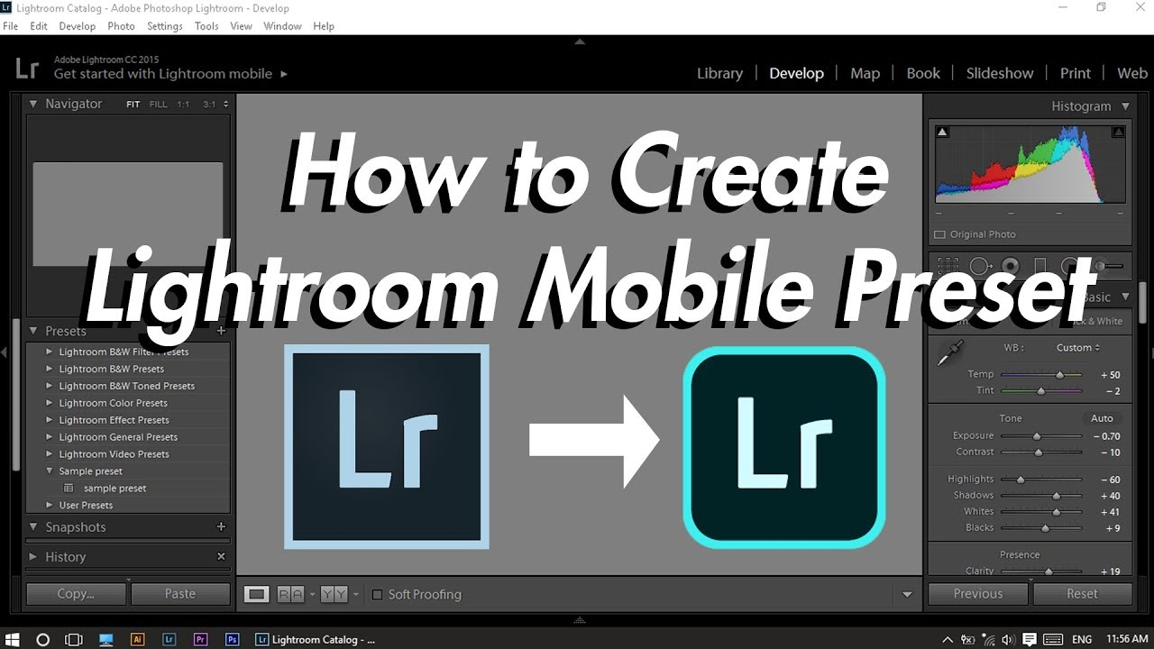 How to Create Lightroom Mobile preset for FREE ( DNG format)