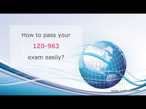 Oracle 1Z0-963 questions and answers,1Z0-963 exam dumps|CertTree Training Material