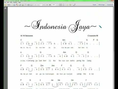 Download Notasi & lyric lagu Indonesia Jaya Partitur Not Angka & Chord