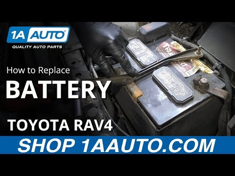 How to Replace Battery 05-16 Toyota RAV4