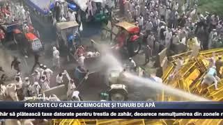 Proteste cu gaze lacrimogene și tunuri apă
