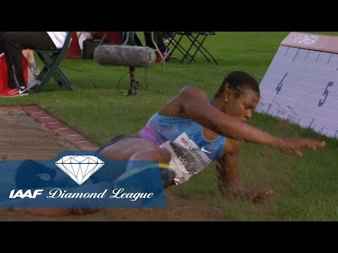 Blessing Okagbare drops her hair in the Women's Long jump - IAAF Diamond League Oslo 2017
