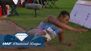 Blessing Okagbare drops her hair in the Women's Long jump - IAAF Diamond League Oslo 2017 thumbnail