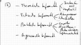 11.01 Theoretische, technische, praktische, angewandte Informatik