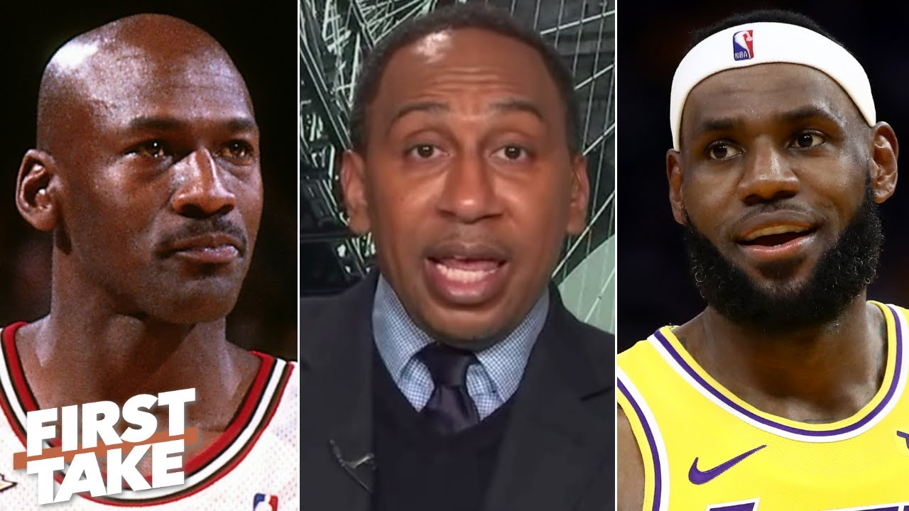 Stephen A. won't rule out the possibility of LeBron catching MJ as a global brand | First Take
