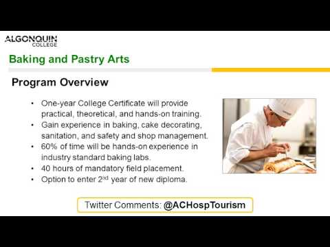 Baking and Pastry Arts Webinar