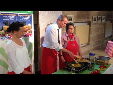 Bauernmarktmeile Nürnberg 2016: Ankochen mit OB Maly
