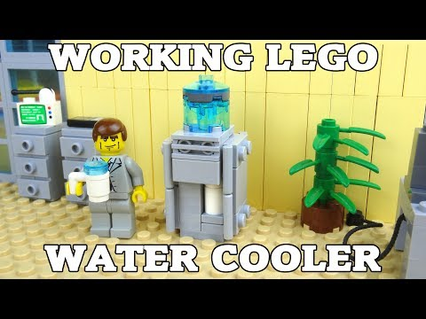How To Build A Working Lego Water Cooler & Dispenser