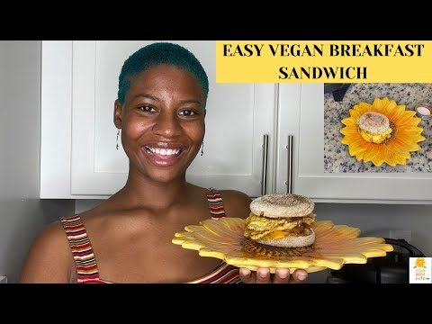 DomLikesToEat: EASY VEGAN BREAKFAST SANDWICH | EPISODE 18