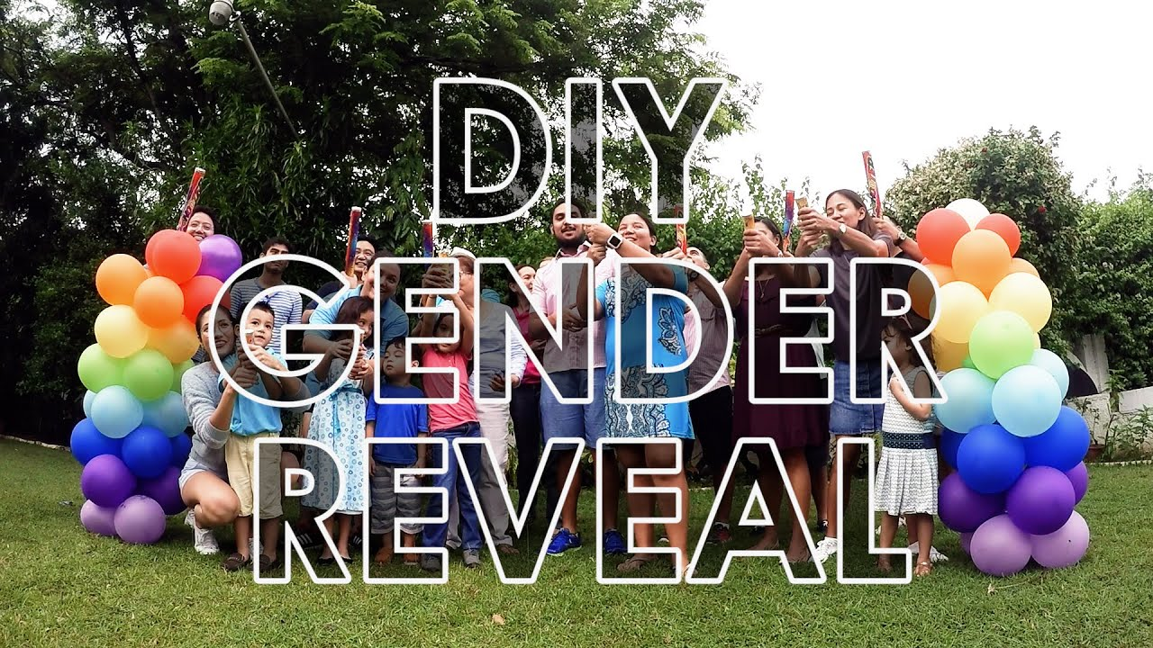 Diy Confetti Gender Reveal Youtube