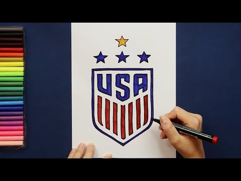 How To Draw USA Women's Soccer Team Logo