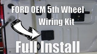 OEM Ford F250 F350 5th Wheel In-Bed Trailer Wiring Harness Installation  Part # HC3Z-15A416-A - YouTube | Ford F 350 Gooseneck Trailer Wiring Diagram |  | YouTube